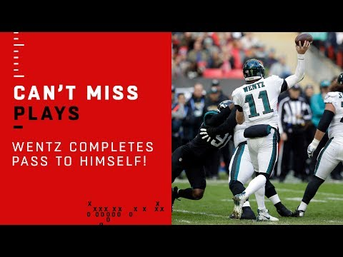 Carson Wentz Finds Carson Wentz for a First Down in London!