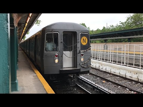 NYC Subway HD 60fps: BMT Sea Beach Line Northbound N Train Rehab Opening Day (5/22/17) (видео)