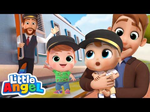 Choo Choo Train Song   Little Angel Kids Songs & Nursery Rhymes
