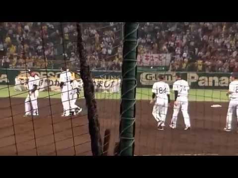 ヤジがすごい!!2014年 甲子園 阪神タイガース レギュラーシーズン終了の挨拶 видео