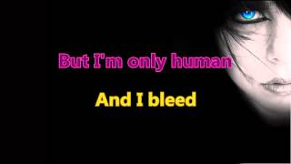 Christina Perri - Human (Karaoke/Instrumental) with Backing voices