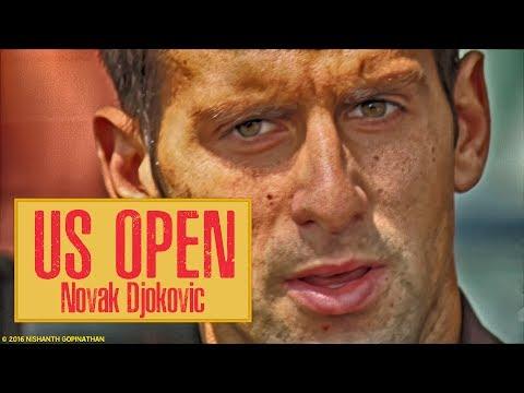 Novak Djokovic imitando a Sharapova en el US Open