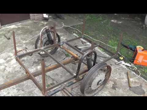Как сделать телегу к мотоциклу