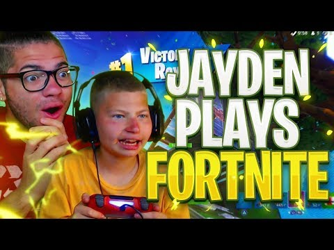 JAYDEN FINALLY PLAYS FORTNITE FOR THE FIRST TIME OMG!!! FORTNITE BATTLE ROYALE! IS HE GOOD?