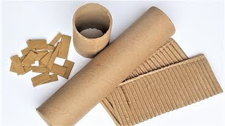 5 Wonderful DIY From Waste Material   Easy and Useful Cardboard Roll Craft