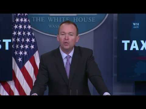 Briefing with Office of Management and Budget Director Mick Mulvaney (видео)