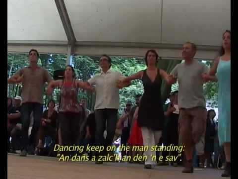 Fest-Noz, festive gathering based on the collective practice of traditional dances of Brittany (видео)