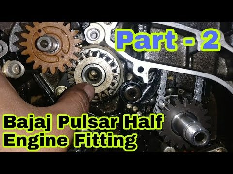 Bajaj Pulsar 150 Half Engine Fitting (Part - 2) |Gajanan Auto Service And Parts