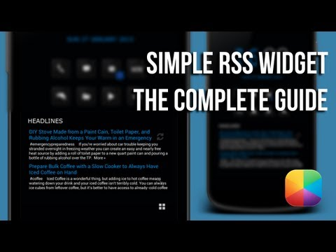 Video of Simple RSS Widget