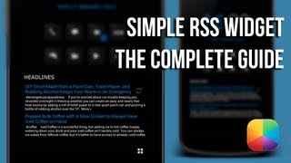 Simple RSS Widget YouTube video