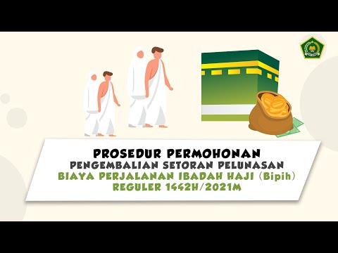 Prosedur Pengembalian Setoran Pelunasan Bipih Reguler 2021 M