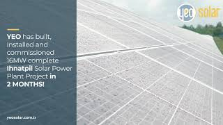 YEO SOLAR completed 16 MW Ihnatpil Solar Power Plant Project in 2 months
