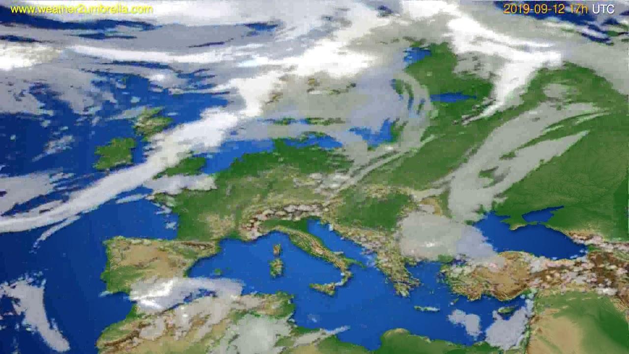 Cloud forecast Europe // modelrun: 00h UTC 2019-09-11