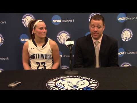 Northwood University Women's Basketball (2/12/15) NU 65, Ferris State 61 - Press Conference