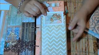 Here is the door mini album that I made for ScrapbookingwithME Boutique kit for September. The monthly kit was from Bo Bunny The Avenues paper collection and...
