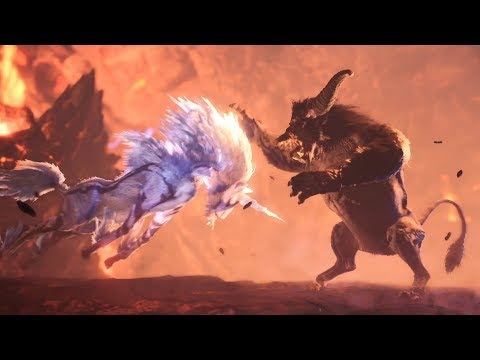 Monster Hunter World: Iceborne - Rajang vs Kirin Ecology Intro Cutscene