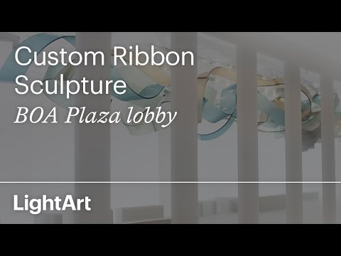 BOA Plaza - Custom Ribbon Sculpture