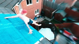 INSANE ROOF TOP SLIP N SLIDE! (SLIPPIEST EVER)
