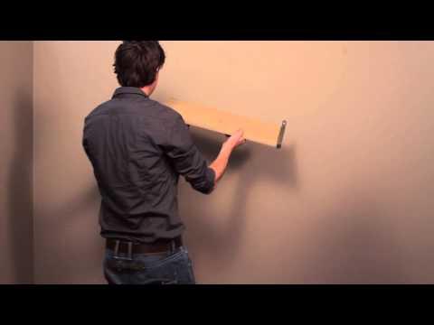 HOW TO: einen modernen Duraline Regalhalter an der Wand montieren - Deutsch