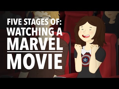 The Five Stages Everyone Goes Through When They Watch A Marvel Movie
