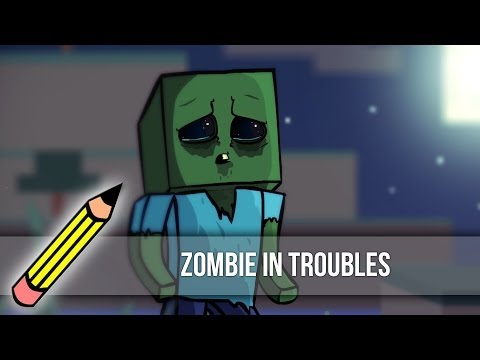 Zombie in troubles (Drawing timelapse)