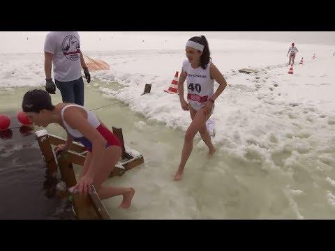 Kälte-Triathlon in Moskau: Erster russischer Kälte-Triathlon veranstaltet
