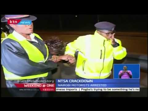 NTSA catches Nairobi motorists by surprise as more than 20 drivers netted (видео)