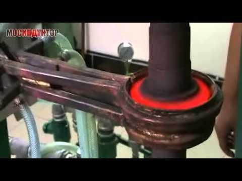 Индукционный нагрев конической шестерни