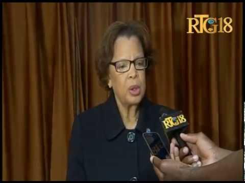 La Représentante spéciale de l'ONU en Haïti, Sandra Honoré visite le parlement haïtien