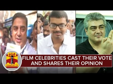 Film-Celebrities-Cast-Their-Vote-Shares-Their-Opinion--Thanthi-TV