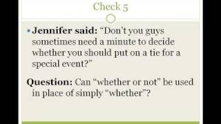 Whether, Common Mistakes in English Lesson 7a