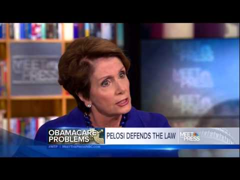 gregory - Nancy Pelosi has a rough time defending her Obamacare promises on Meet the Press. NBC, Meet The Press Nov. 17, 2013.