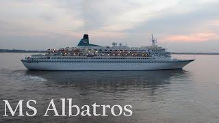 Auslaufen der MS Albatros von Phoenix Reisen am 28.09.2014 in Bremerhaven. Kompass & Anker auf Facebook:...