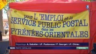 Rivesaltes France  city pictures gallery : France 3 Grève Postiers de Rivesaltes 25 04 2016