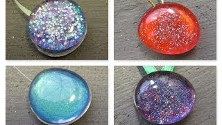 Recycled Nail Polish Stones Christmas Ornaments Craft Tutorial - YouTube