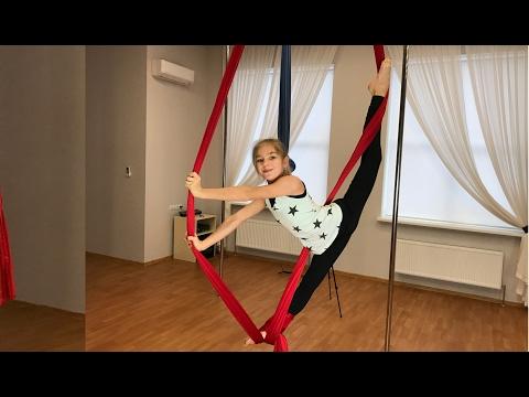 Воздушная гимнастика. ВОЗДУШНЫЕ ПОЛОТНА ЦЕЛАЯ ТРЕНИРОВКА — 1 Barvina SPORT (видео)
