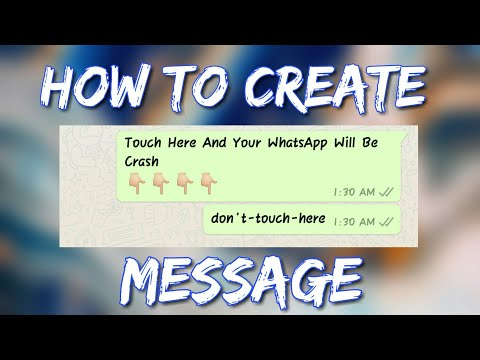 [HINDI TUTORIAL] HOW TO MAKE DON'T TOUCH HERE (don't-touch-here) MESSAGE FOR WHATSAPP (CRASH)