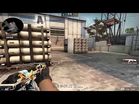Man playing Cs:go pretends to be a bot while his 4 other down teammates react