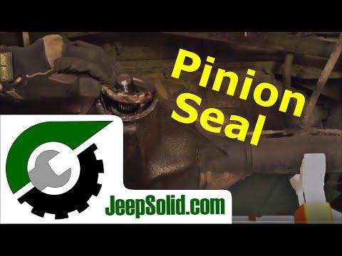Pinion seal replacement: Jeep Wrangler pinion seal dana 35 rear axle
