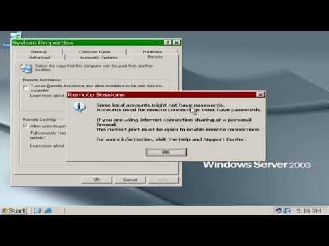 How to Enable Remote Desktop Connection - Windows Server 2003 - TechHandle net