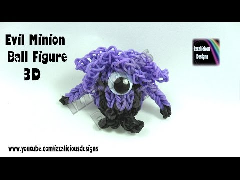 Rainbow Loom Evil Minion 3D Ball Charm/Figure © Izzalicious Designs 2014