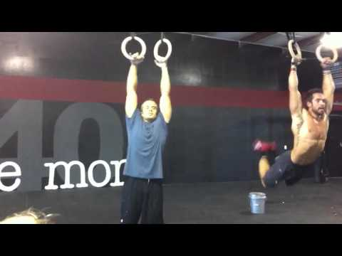 540 - Rich Froning takes on 540 trainers 2 against 1! WOD: AMRAP 5 muscle up 50 double unders.