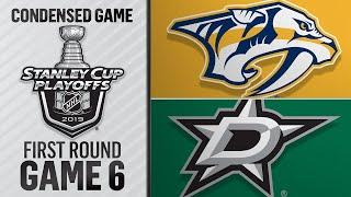 04/22/19 First Round, Gm6: Predators @ Stars by NHL