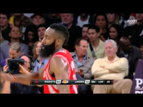 James Harden finishes the alley-oop slam