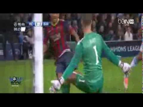 Mancity 0  -  2 Barcelona