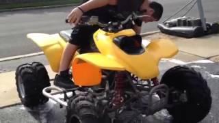 10. Honda TRX 400 wheelie