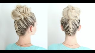 Dutch Braid Twist Bun Combo | Cute Girls Hairstyles by Cute Girls Hairstyles