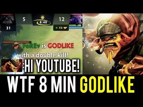 MEET NEW IMBA DOTA 2 WTF 8 MIN GODLIKE 1 KILL PER MIN Bristleback by Forev New Meta 7.06