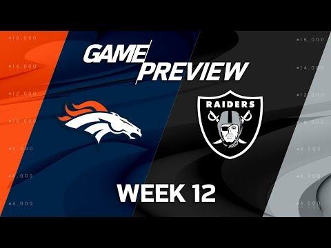 Video: Denver Broncos vs. Oakland Raiders | NFL Week 12 Game Preview | Move the Sticks