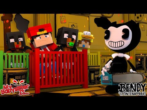 Minecraft MY BABYSITTER IS...... BENDY AND THE INK MACHINE!!